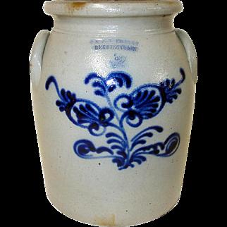 19th C. Norton Blue Decorated Stoneware Bennington, VT.