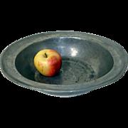 18th C. Pewter Bowl