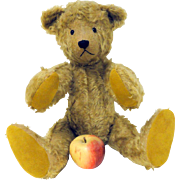 "Large 22"" Golden Mohair Teddy Bear c. 1920"
