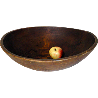 Large 19th C. Wooden Bowl w/ Great Patina