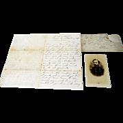 CDV of General John Sedgwick w/ Letter from W.T. Reid PA 44th Regiment