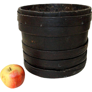 19th C. Wooden Bucket with Lapped Joint Bands