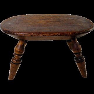 19th Century New England Windsor Footstool