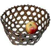 19th C. Scarce Small Size Cheese Basket
