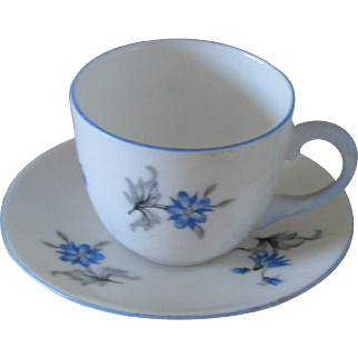 Shelley China Blue Charm Miniature in the Westminster Shape