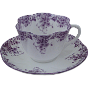 Shelley Dainty Mauve Cup and Saucer