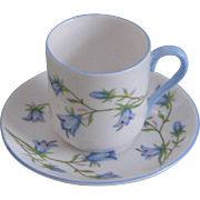 Shelley China Harebell Miniature Cup and Saucer