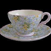 Shelley Primrose Chintz Richmond Shape Cup and Saucer
