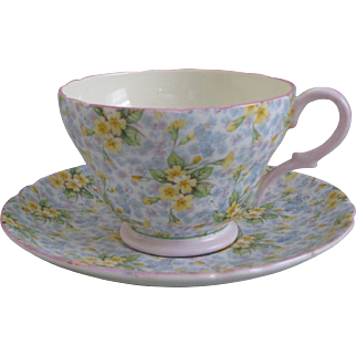 Shelley Primrose Chintz Richmond Shape Cup and Saucer