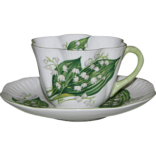 Shelley Lily of the Valley Dainty Shape Teacup and Saucer