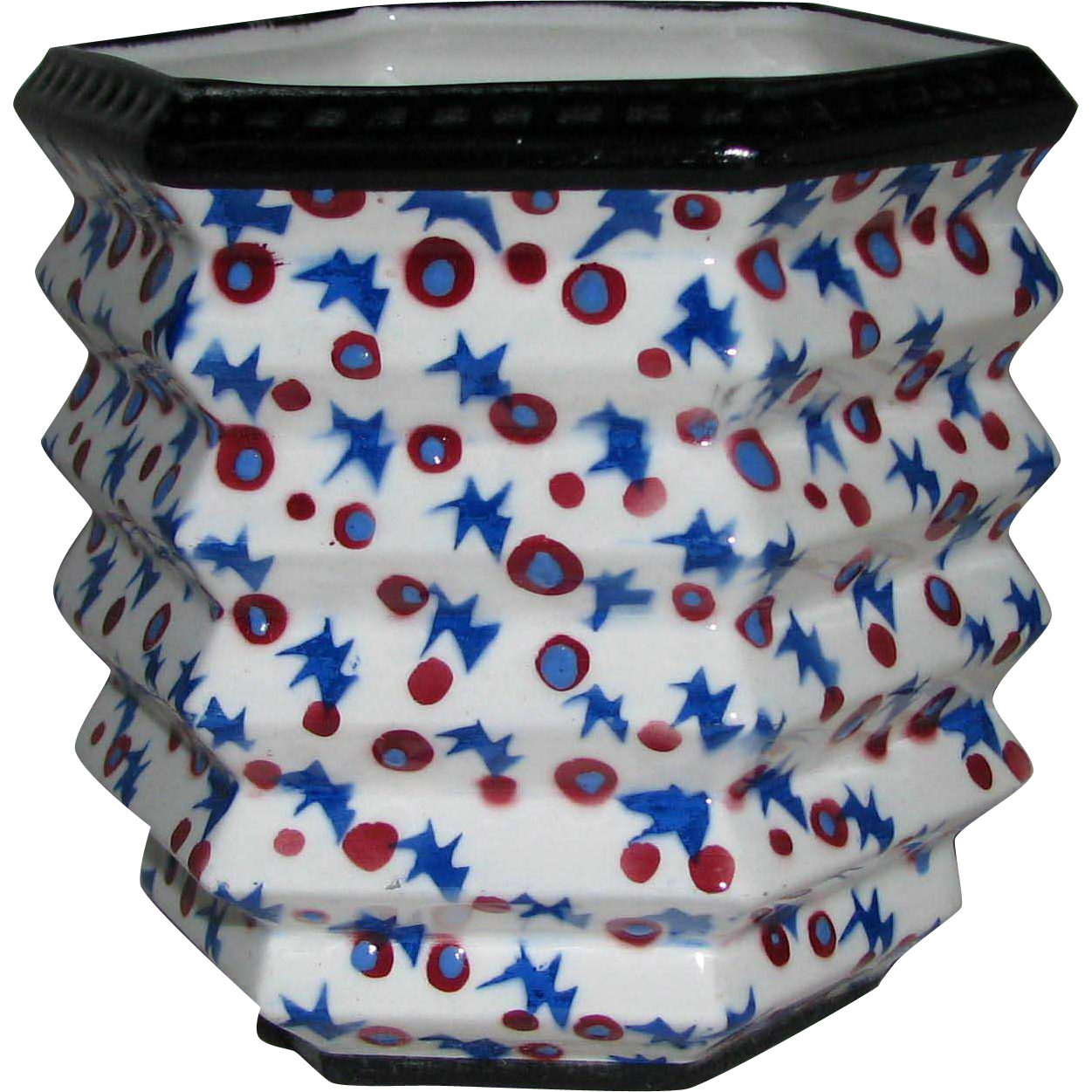 Art Deco Czech Pottery Small Jardiniere From Antiques From