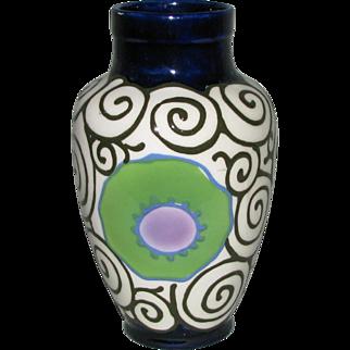 Czech Pottery 7-inch Dazzler Vase from Dittmar Urbach