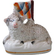 Staffordshire Ram Figurine with Flag