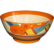 Clarice Cliff Stylized Bobbins Hand-Painted Ceramic Bowl