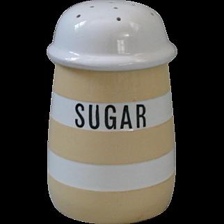 Vintage T.G. Green Yellow Cornish Ware Sugar Sifter