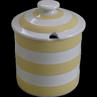 Vintage Yellow Cornish Ware Jam Jar