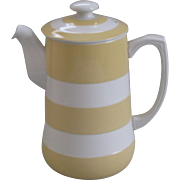 Vintage T.G. Green Yellow Cornish Ware Coffee Pot