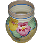 Clarice Cliff Delecia Pansy 565 Vase
