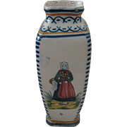 Henriot Quimper Antique Vase with Petite Bretonne