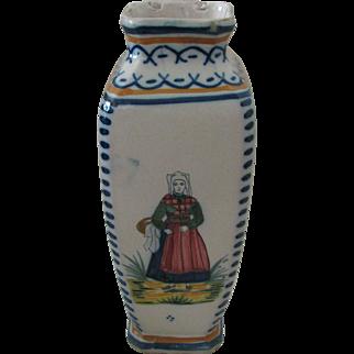 Henriot Quimper Antique Vase with Petite Bretonne