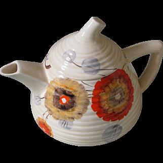 Clarice Cliff Rhodanthe Lynton Shape Teapot