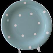 Vintage Light Green Domino Ware Dinner Plate
