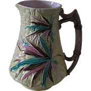 English Majolica 19th Century Cider Jug or Pitcher