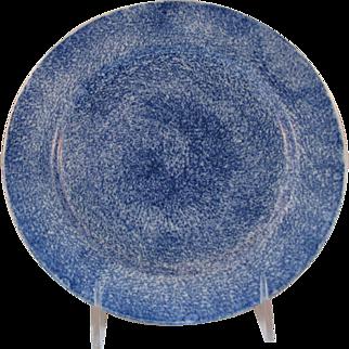 Antique Cobalt Spatter Ware Plate