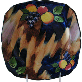 Autumn Hand-Painted Plate by Hollinshead and Kirkham