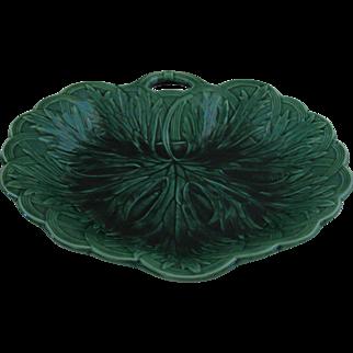 Antique Wedgwood Green Majolica Dish