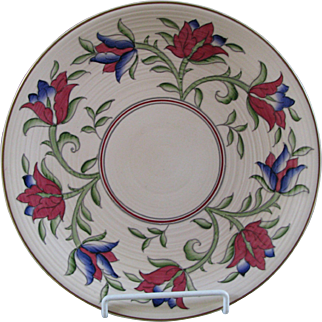 Crown Ducal Charger in Charlotte Rhead Style