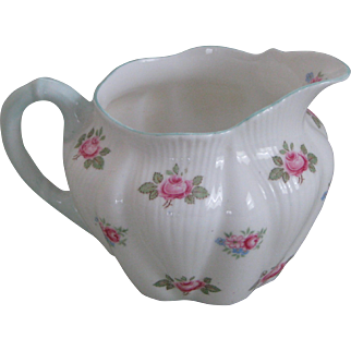 Shelley Rosebud Cream Pitcher in the Dainty Shape