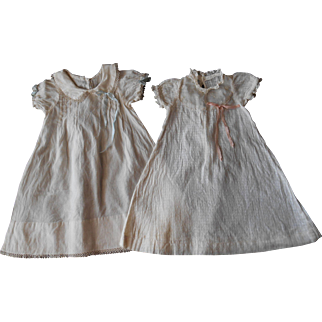 Two Vintage Baby Doll Dresses