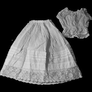 Antique Slip and Camisole Set