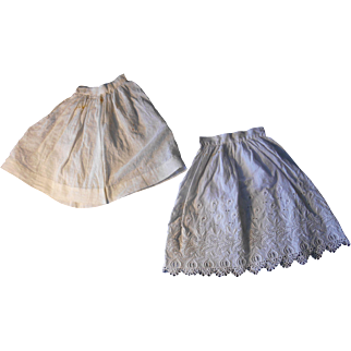 Antique Doll Slips, Plain and Fancy