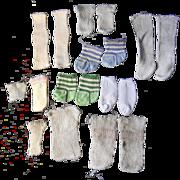 Lots of Vintage Doll Socks--7 pair, 4 spares
