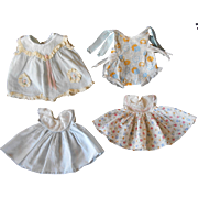 "Vintage Baby Doll Dresses and Romper for 16"" Dy Dee or Tiny Tears"