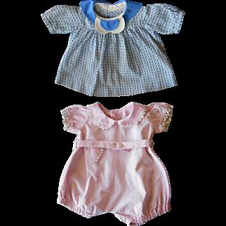 Big Baby Doll Clothes--Vintage 1930's