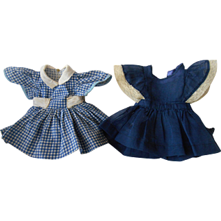 """Vintage Dress and Pinafore for 18"""" Dolls"""