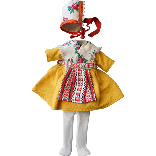 "Swedish Folk Costume for 8"" doll"