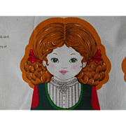 "Vintage Panel, sew your own old fashioned doll ""Gretel"""