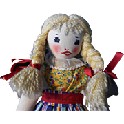 Vintage 1940's Rag Doll in almost Mint Condition