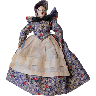 """Vintage Composition & Cloth 8"""" Pioneer Character Doll"""