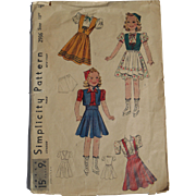 "Vintage Sonja Henie-style pattern for 18"" dolls"