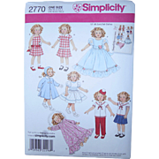 "Shirley Temple-style Pattern for 19"" dolls"