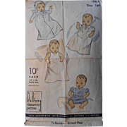 "1930's Vintage 18"" Baby Doll wardrobe pattern"
