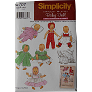 Baby Doll Layette pattern Simplicity Reissue