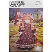 Old Fashioned Doll and Clothes pattern, Vogue Craft
