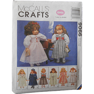 """McCall's Pattern for Vintage Styles fits American Girl or other 18"""" Dolls"""