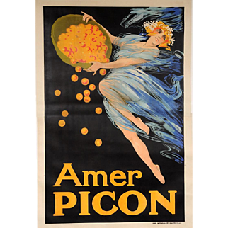 "Original Vintage French OVERSIZE 2 PARTS Alcohol for ""Amer Picon"" Aperitif"